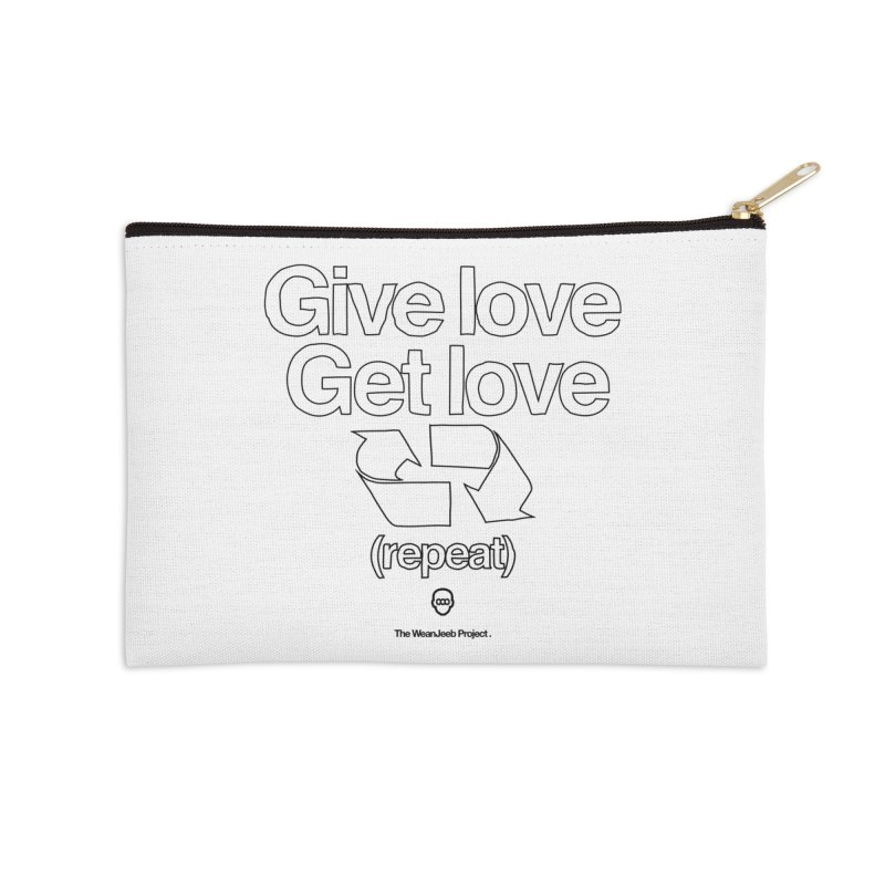 Give Love Get Love (bow) Accessories Zip Pouch by WeandJeeb's Artist Shop
