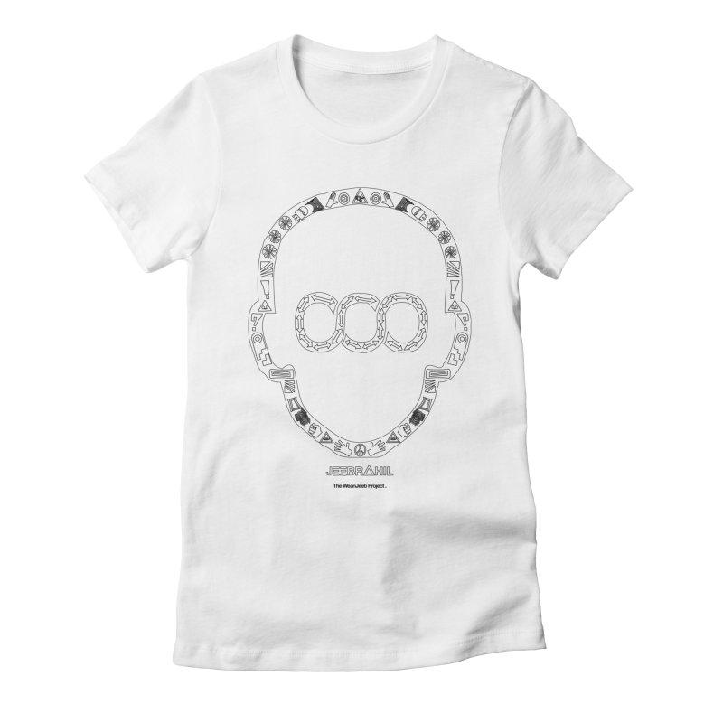 Signs x head (b) in Women's Fitted T-Shirt White by WeandJeeb's Artist Shop