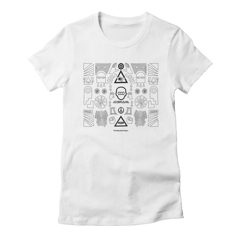 Squared x organised (b) Women's Fitted T-Shirt by WeandJeeb's Artist Shop