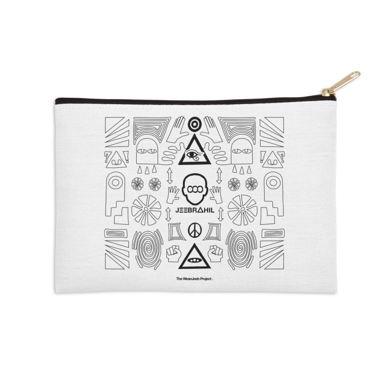 Squared x organised (b) Accessories Zip Pouch by WeandJeeb's Artist Shop