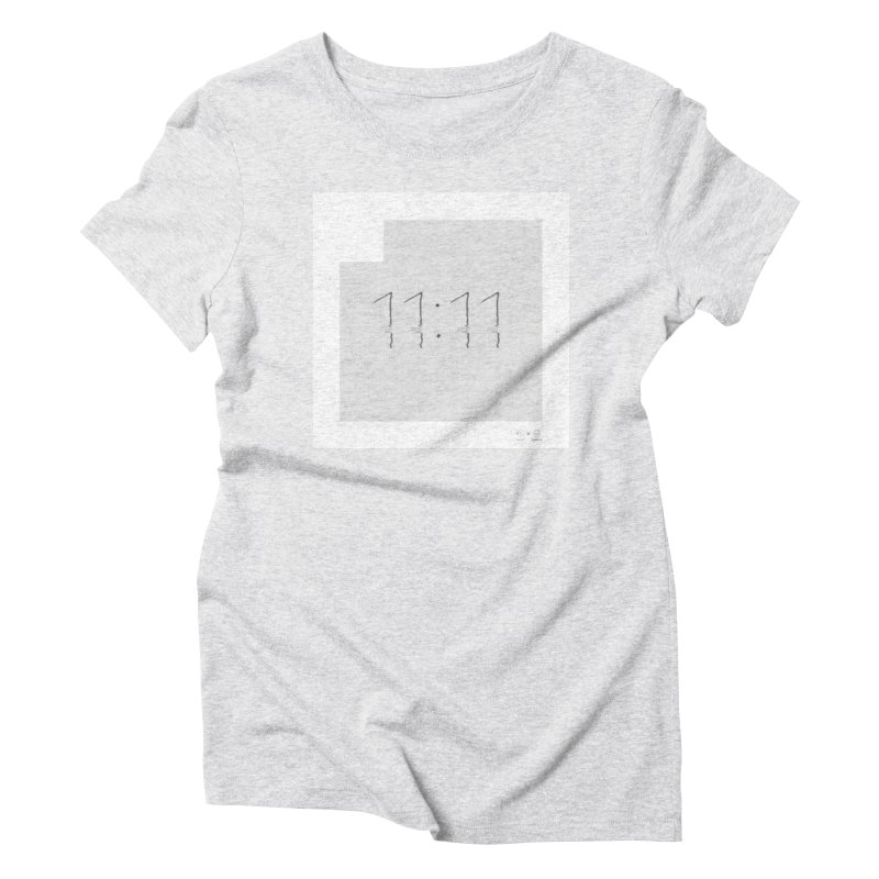 Slim Hours 11:11 Women's Triblend T-shirt by WeandJeeb's Artist Shop