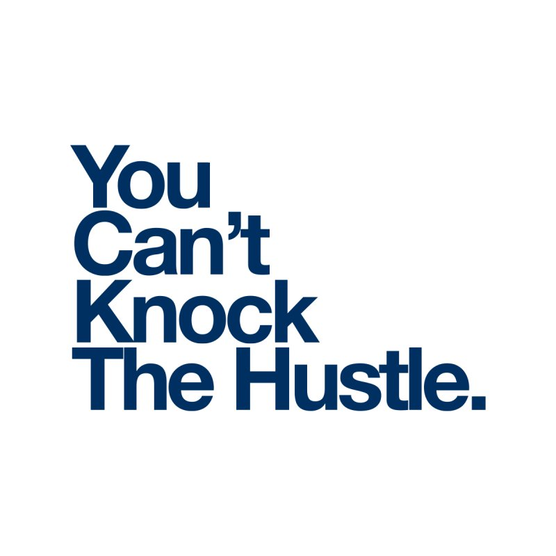 Can knock the hustle (blue) Accessories Bag by WeandJeeb's Artist Shop