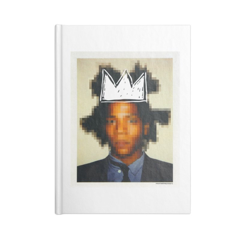 JMB pixelled and crowned Accessories Notebook by WeandJeeb's Artist Shop