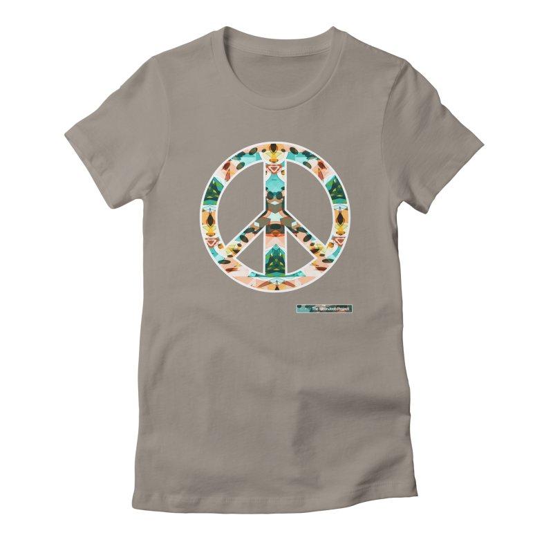 Peace Day Kaleido Women's Fitted T-Shirt by WeandJeeb's Artist Shop