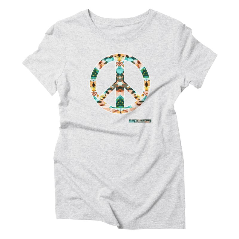 Peace Day Kaleido Women's Triblend T-Shirt by WeandJeeb's Artist Shop