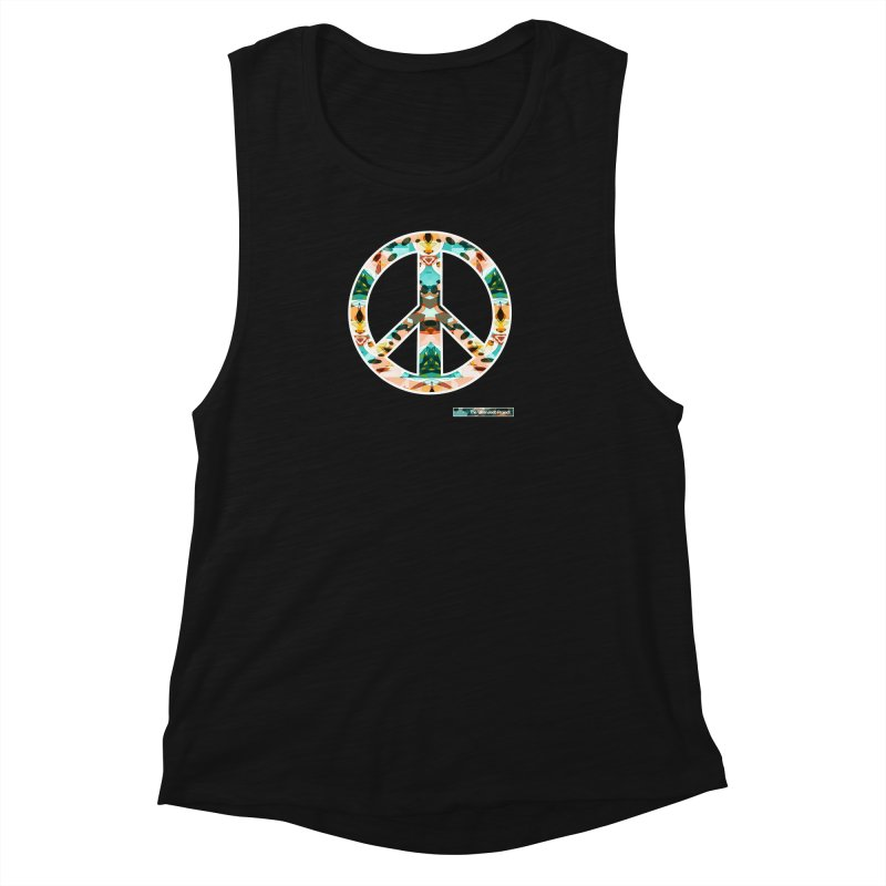 Peace Day Kaleido Women's Muscle Tank by WeandJeeb's Artist Shop