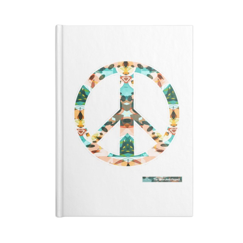 Peace Day Kaleido Accessories Notebook by WeandJeeb's Artist Shop