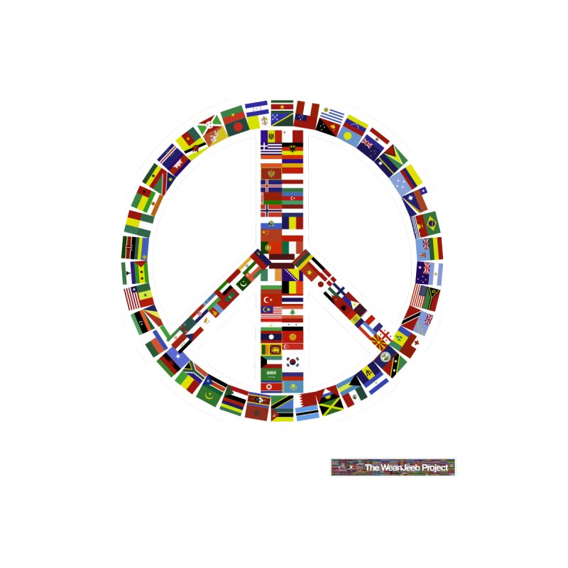 Peace Day Flags Women's Triblend T-Shirt by WeandJeeb's Artist Shop