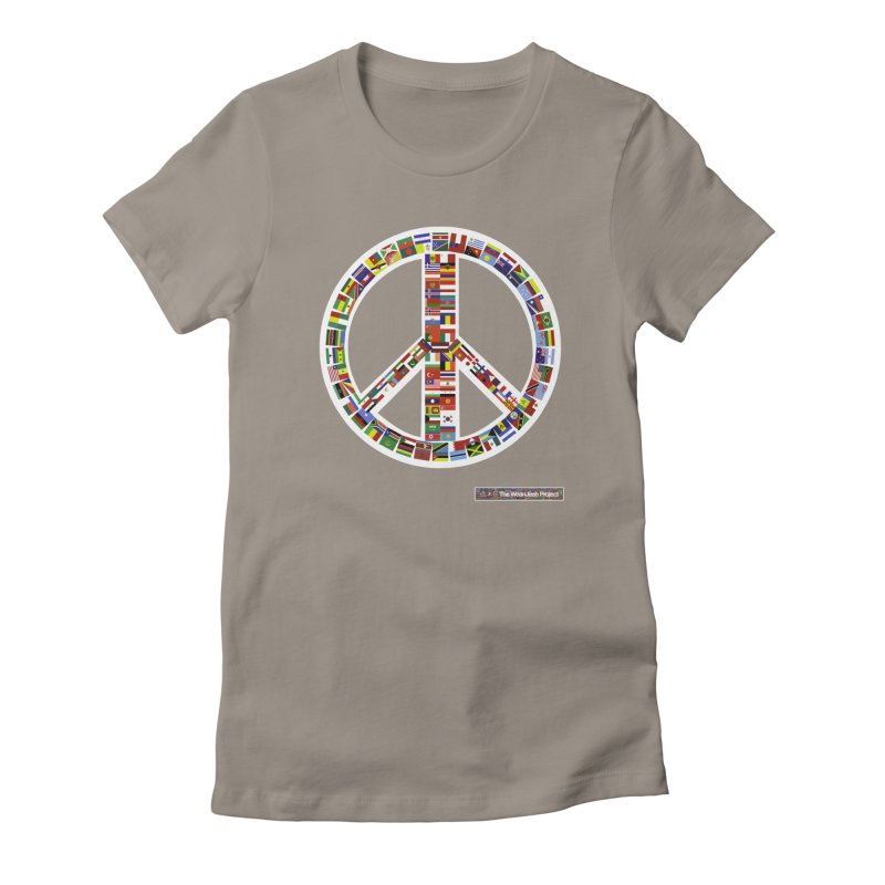 Peace Day Flags Women's Fitted T-Shirt by WeandJeeb's Artist Shop