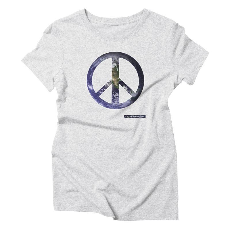 Peace Day Earth Women's Triblend T-shirt by WeandJeeb's Artist Shop