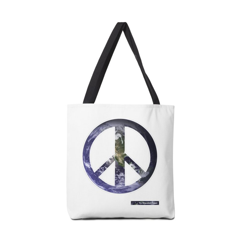 Peace Day Earth Accessories Bag by WeandJeeb's Artist Shop