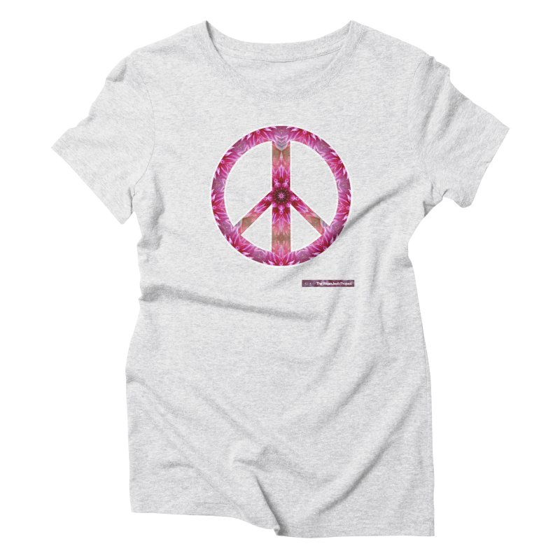 Peace Day Mandala Women's Triblend T-Shirt by WeandJeeb's Artist Shop