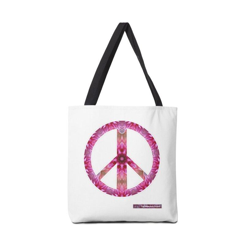Peace Day Mandala Accessories Bag by WeandJeeb's Artist Shop
