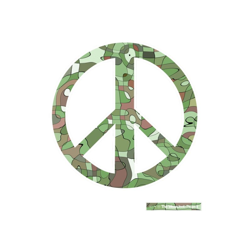 Peace Day Pop-Camo Accessories Bag by WeandJeeb's Artist Shop