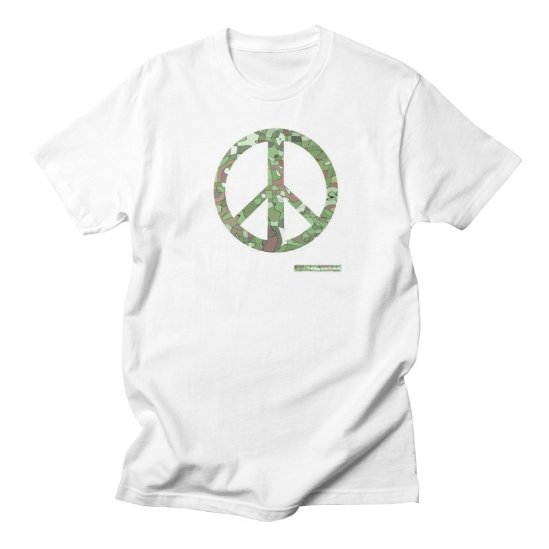 Peace Day Pop-Camo Women's Unisex T-Shirt by WeandJeeb's Artist Shop