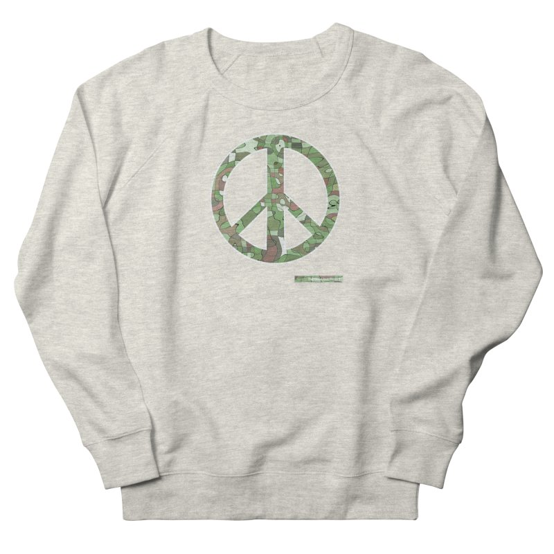 Peace Day Pop-Camo Women's Sweatshirt by WeandJeeb's Artist Shop