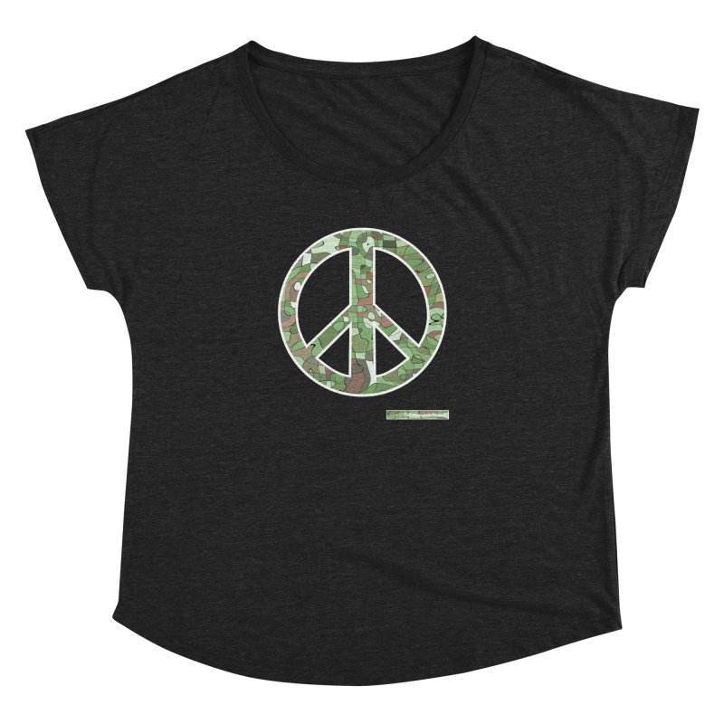 Peace Day Pop-Camo Women's Dolman by WeandJeeb's Artist Shop