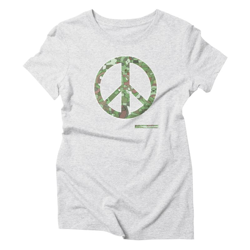 Peace Day Pop-Camo Women's Triblend T-Shirt by WeandJeeb's Artist Shop