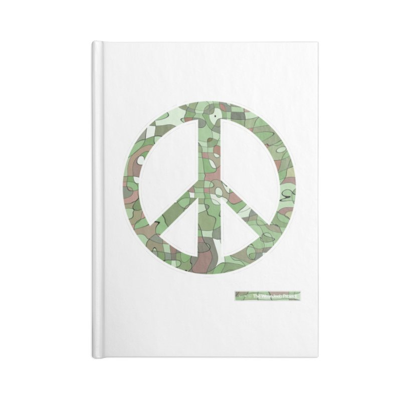 Peace Day Pop-Camo Accessories Notebook by WeandJeeb's Artist Shop