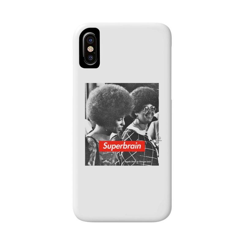 Superbrain - Angela Davis Accessories Phone Case by WeandJeeb's Artist Shop