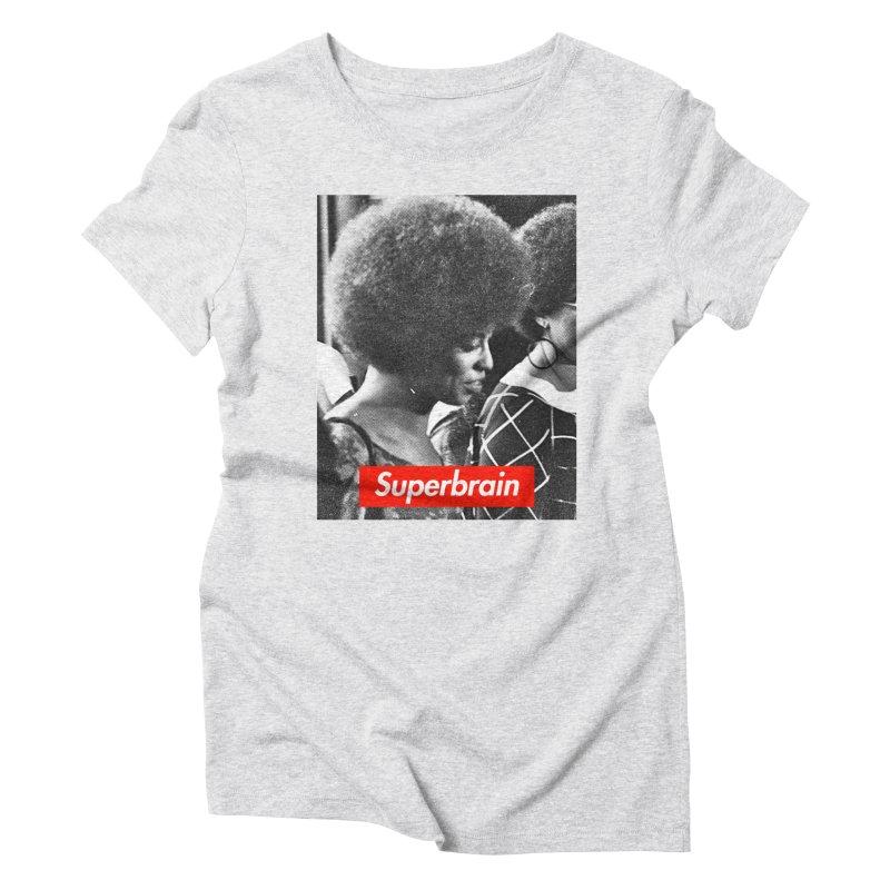 Superbrain - Angela Davis Women's Triblend T-shirt by WeandJeeb's Artist Shop