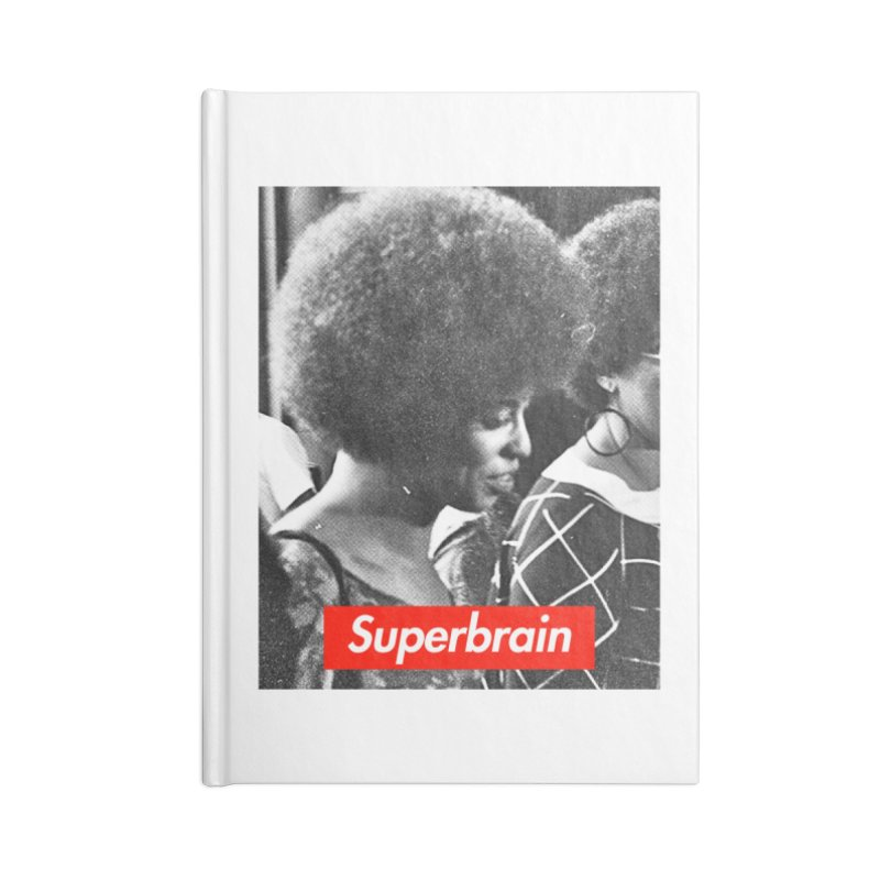 Superbrain - Angela Davis Accessories Notebook by WeandJeeb's Artist Shop