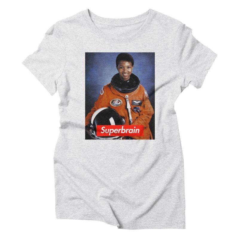SuperBrain - Dr. Mae C. Jemison Women's Triblend T-Shirt by WeandJeeb's Artist Shop