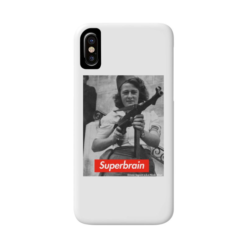 Superbrain - Simone Segouin a.k.a Nicole Minet Accessories Phone Case by WeandJeeb's Artist Shop