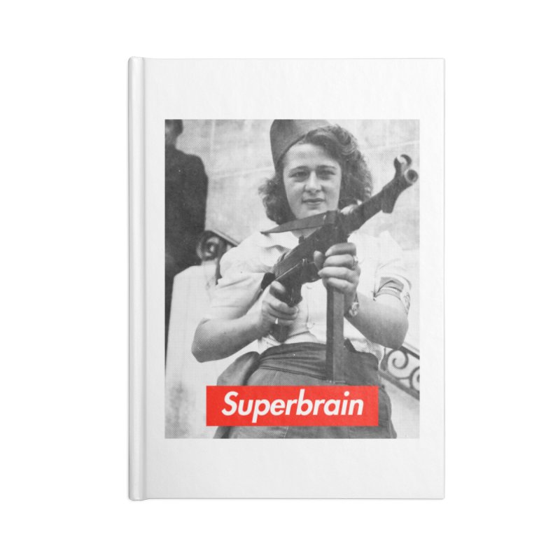 Superbrain - Simone Segouin a.k.a Nicole Minet Accessories Notebook by WeandJeeb's Artist Shop