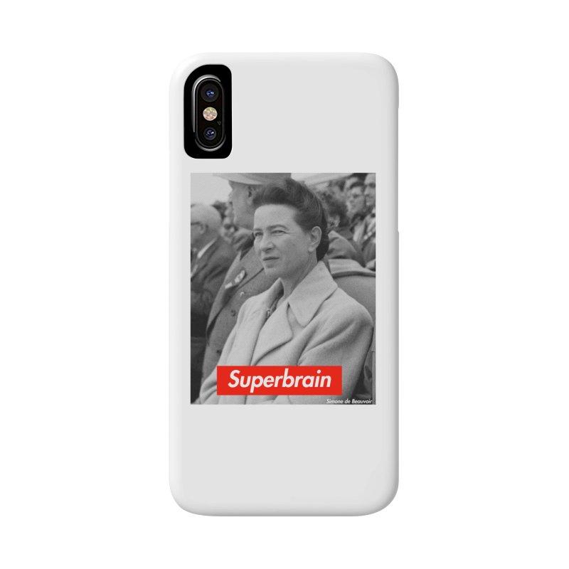 Superbrain - Simone de Beauvoir  Accessories Phone Case by WeandJeeb's Artist Shop