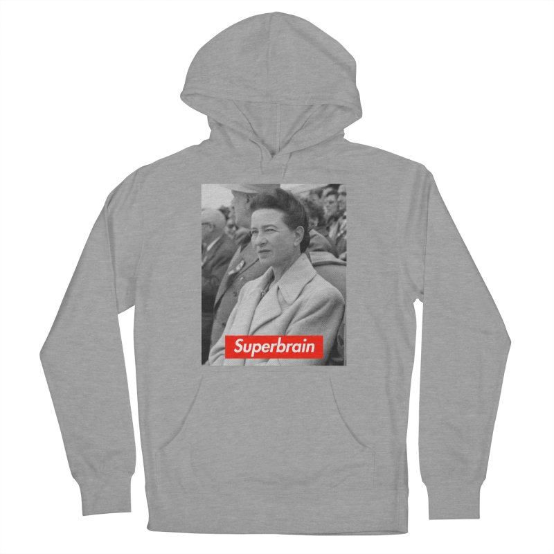 Superbrain - Simone de Beauvoir  Men's Pullover Hoody by WeandJeeb's Artist Shop