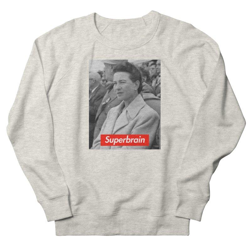 Superbrain - Simone de Beauvoir  Men's Sweatshirt by WeandJeeb's Artist Shop