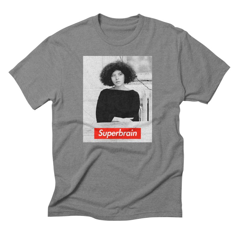 Superbrain - Barbara Kruger Men's Triblend T-Shirt by WeandJeeb's Artist Shop