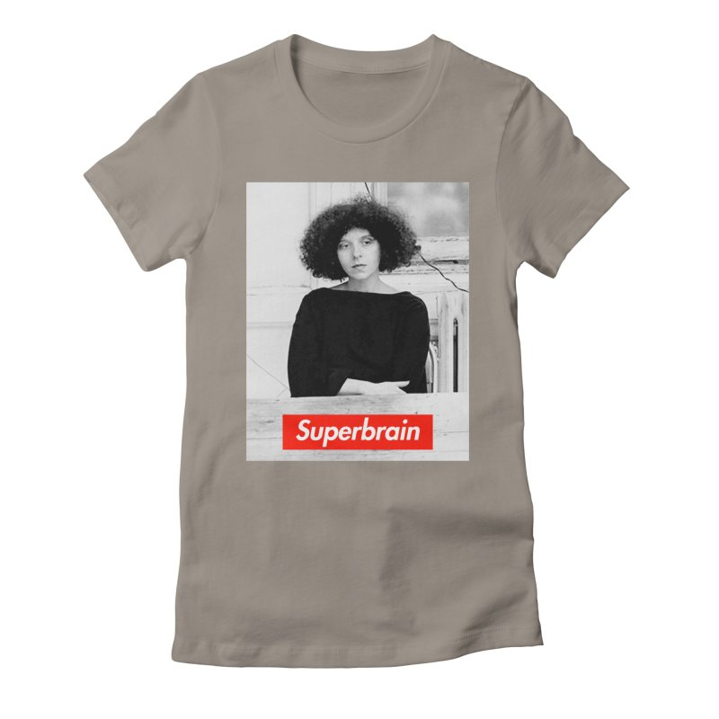 Superbrain - Barbara Kruger Women's Fitted T-Shirt by WeandJeeb's Artist Shop