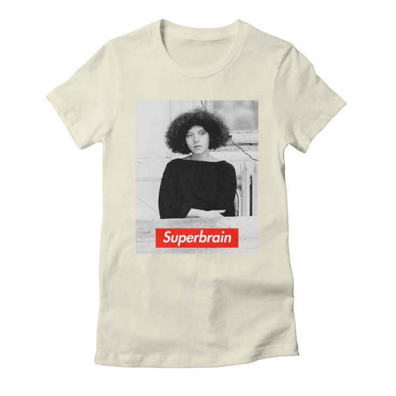Superbrain - Barbara Kruger Women's Fitted T-Shirt by WeandJeeb's Artist Shop