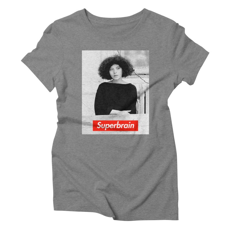 Superbrain - Barbara Kruger Women's Triblend T-shirt by WeandJeeb's Artist Shop