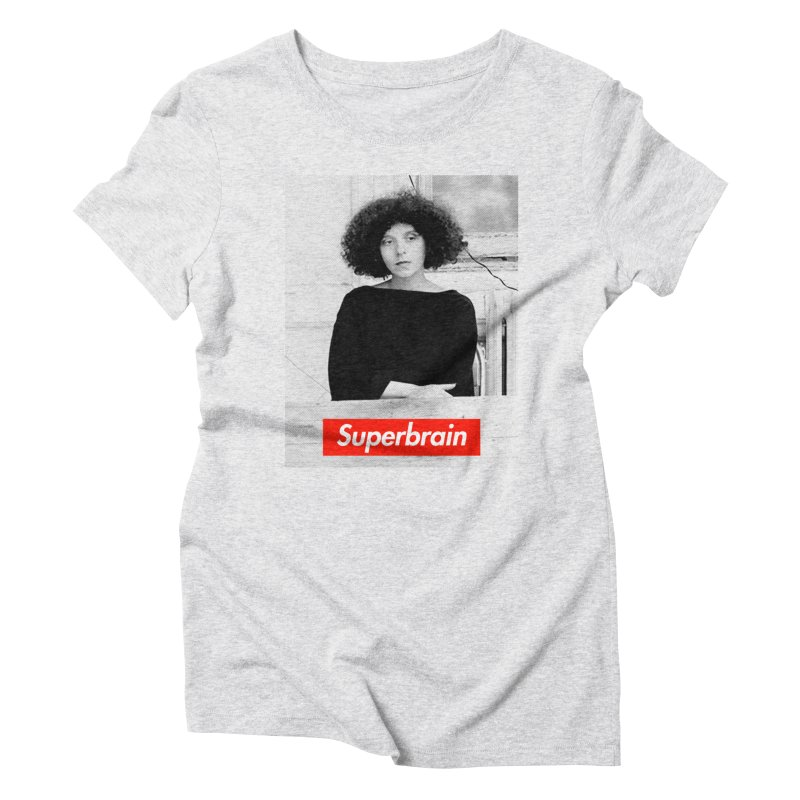 Superbrain - Barbara Kruger Women's Triblend T-Shirt by WeandJeeb's Artist Shop