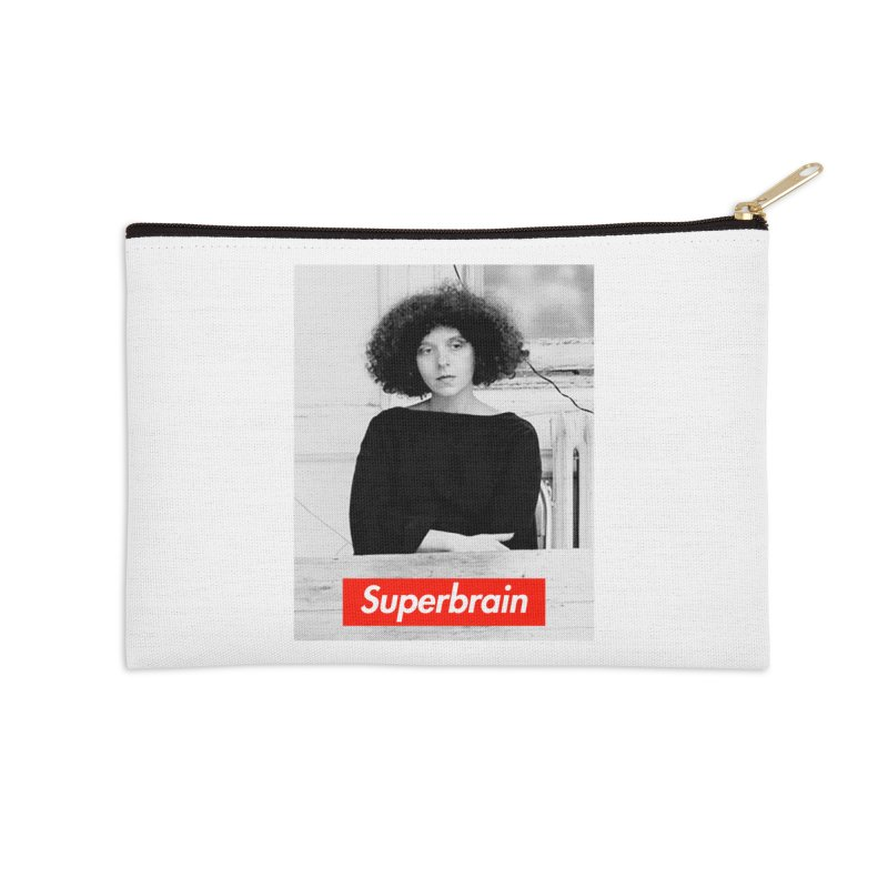 Superbrain - Barbara Kruger Accessories Zip Pouch by WeandJeeb's Artist Shop