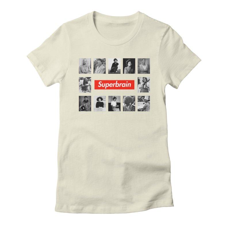 Superbrain Women's Fitted T-Shirt by WeandJeeb's Artist Shop