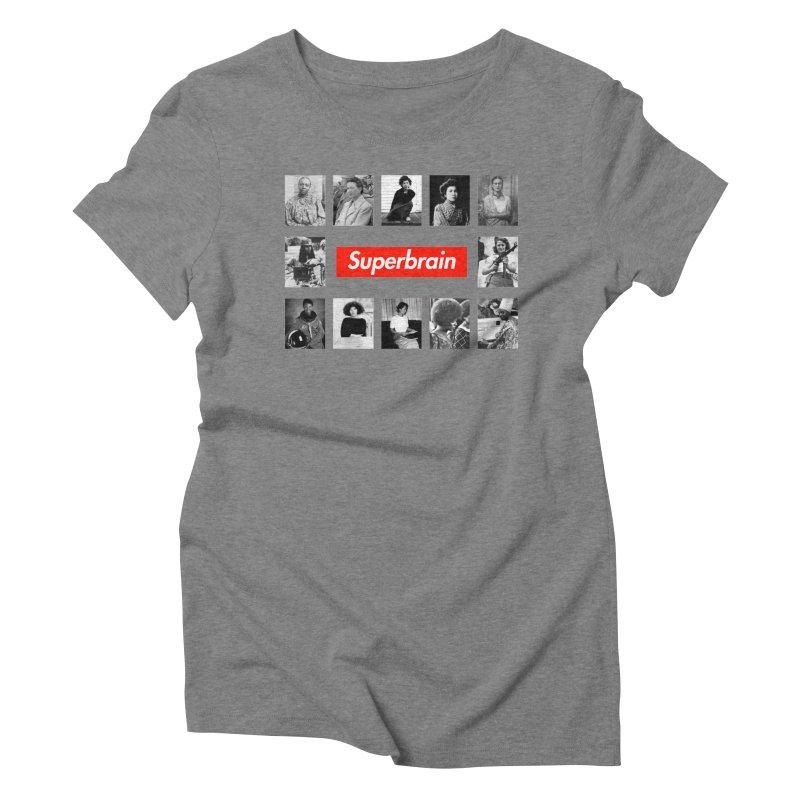 Superbrain Women's Triblend T-Shirt by WeandJeeb's Artist Shop
