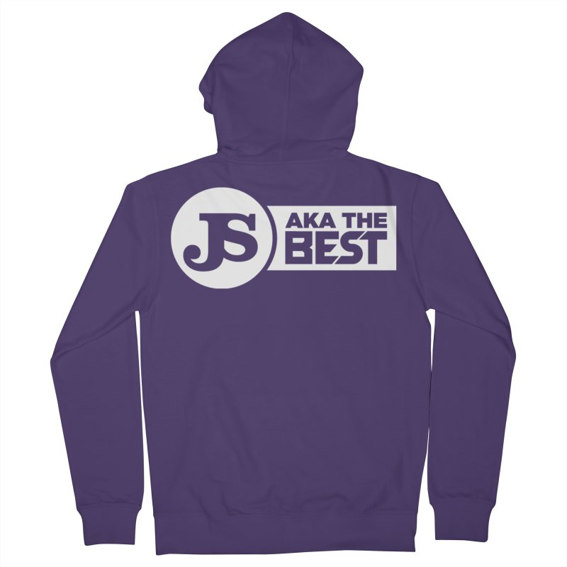 JS aka The Best (White) Women's French Terry Zip-Up Hoody by Weapon X Evolution merchandise