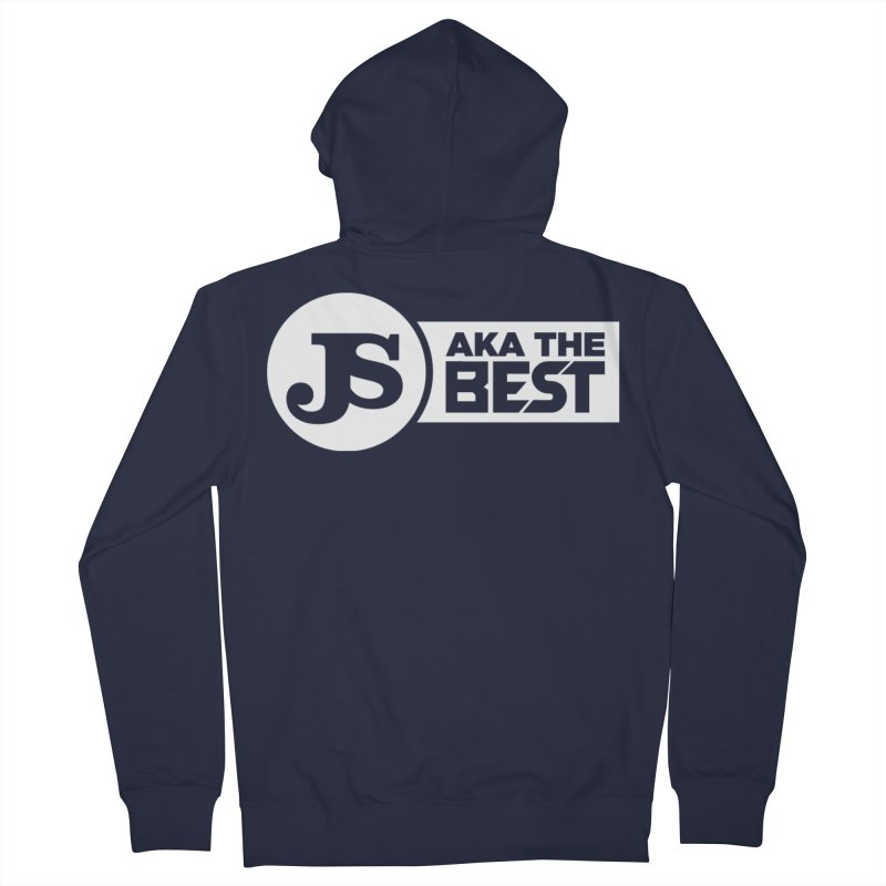 JS aka The Best (White) Men's French Terry Zip-Up Hoody by Weapon X Evolution merchandise
