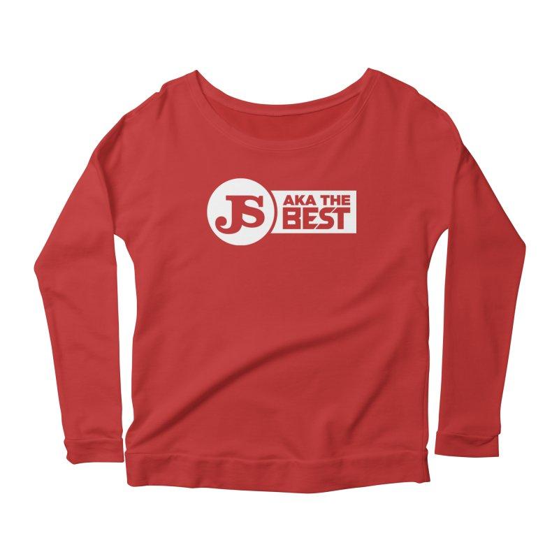 JS aka The Best (White) Women's Longsleeve Scoopneck  by Weapon X Evolution merchandise