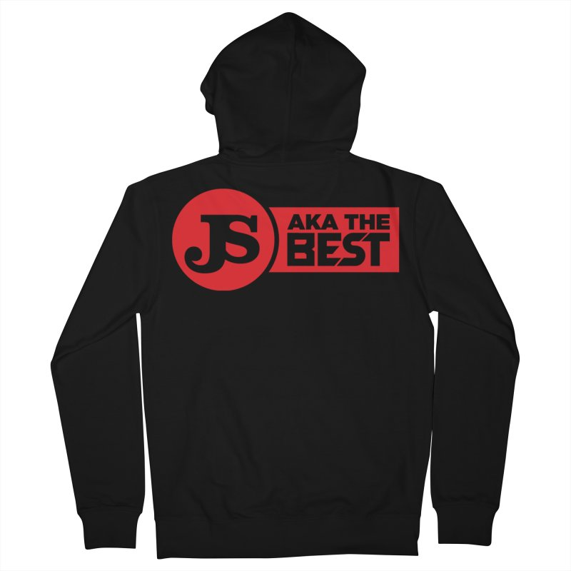 JS aka The Best (Red) Men's French Terry Zip-Up Hoody by Weapon X Evolution merchandise