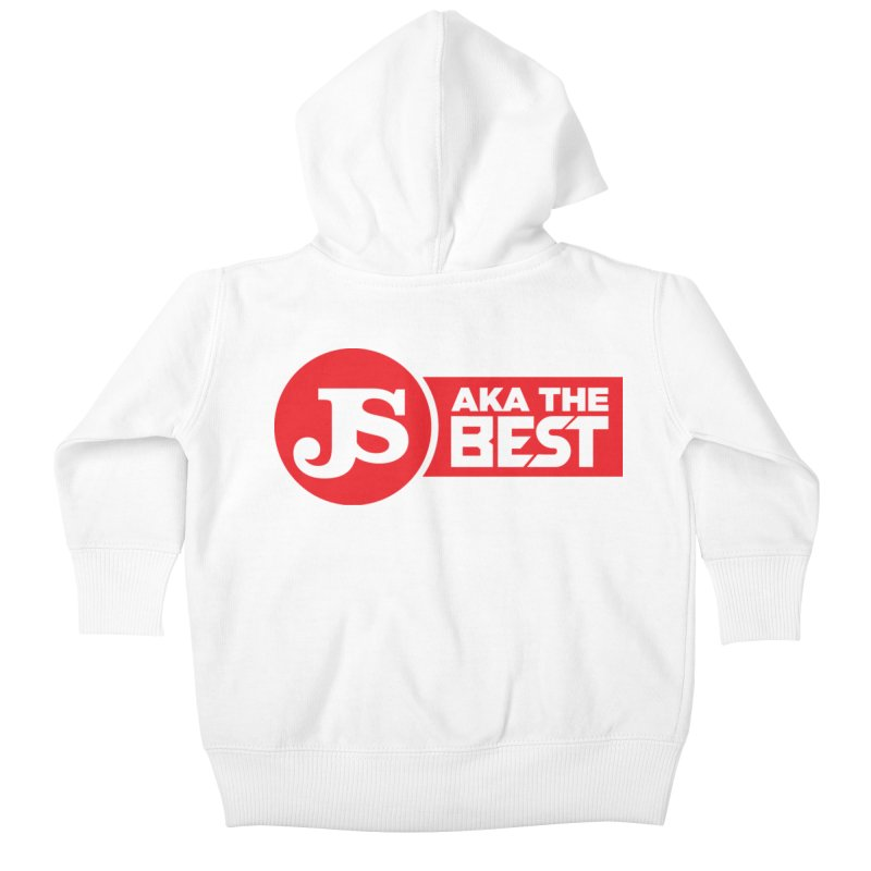 JS aka The Best (Red) Kids Baby Zip-Up Hoody by Weapon X Evolution merchandise