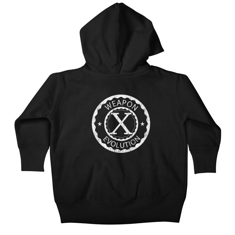 Weapon X Evolution (Black) Kids Baby Zip-Up Hoody by Weapon X Evolution merchandise