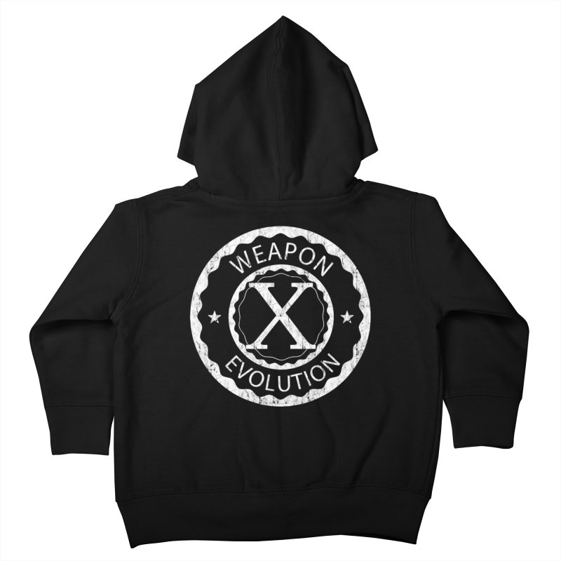 Weapon X Evolution (Black) Kids Toddler Zip-Up Hoody by Weapon X Evolution merchandise