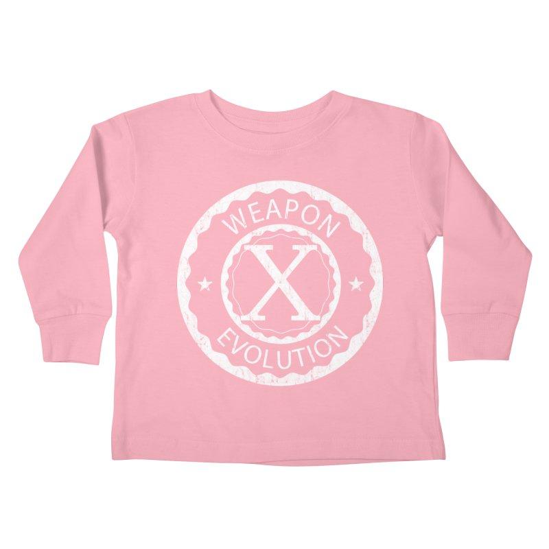Weapon X Evolution (Black) Kids Toddler Longsleeve T-Shirt by Weapon X Evolution merchandise
