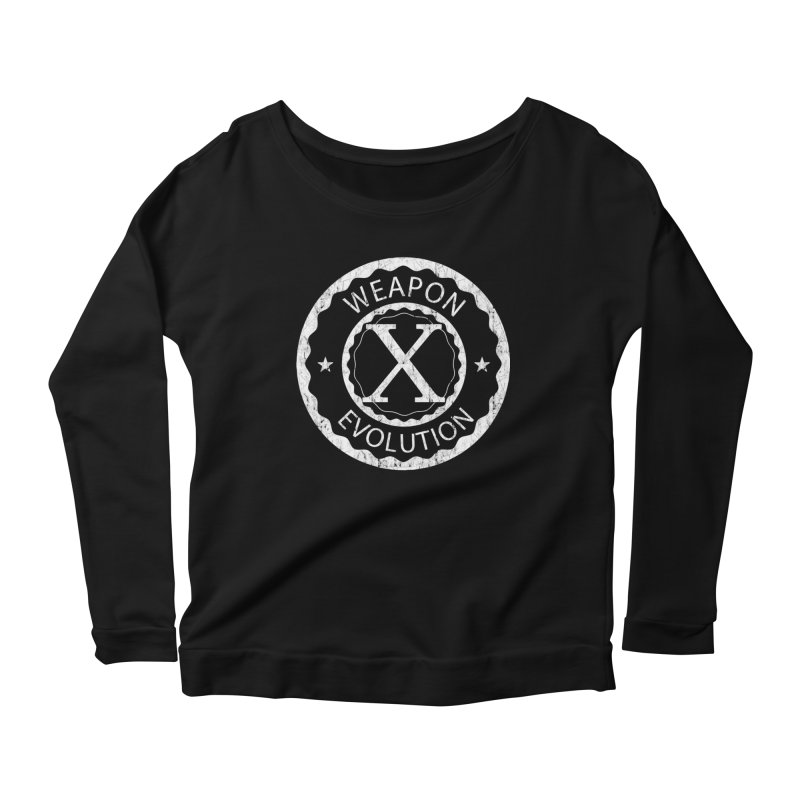 Weapon X Evolution (Black) Women's Scoop Neck Longsleeve T-Shirt by Weapon X Evolution merchandise