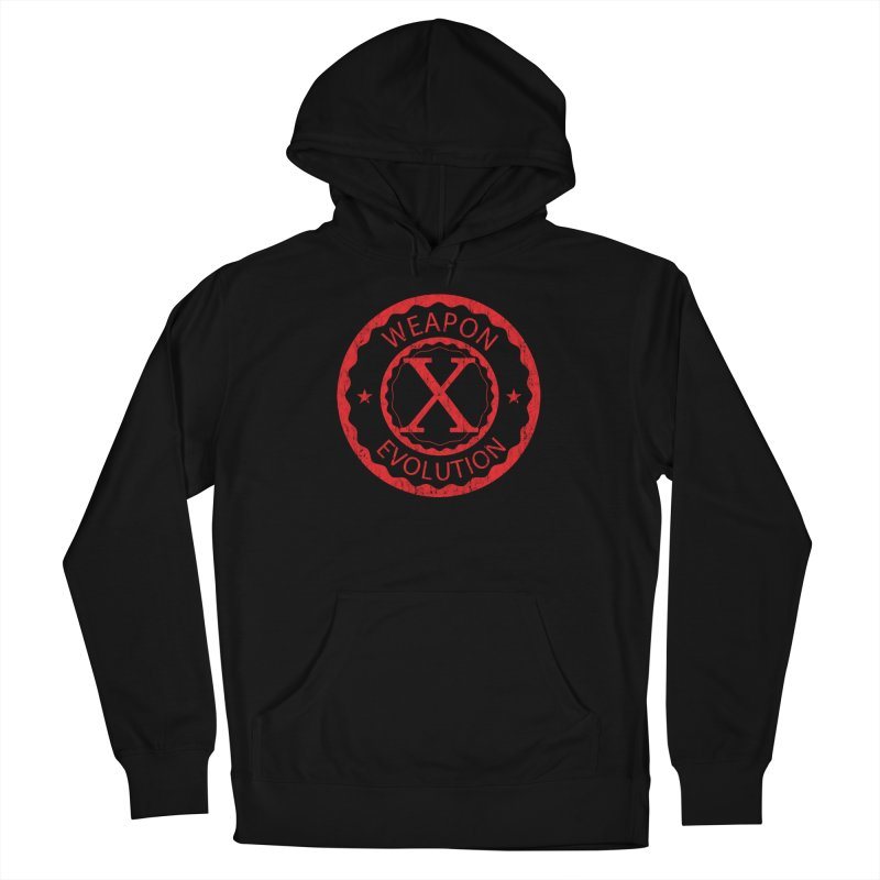WXE (Red) Men's French Terry Pullover Hoody by Weapon X Evolution merchandise